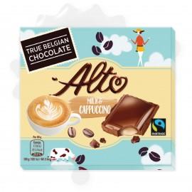 Alto Cappuccino ízű krémmel töltött étcsokoládé tábla 90g 1/16