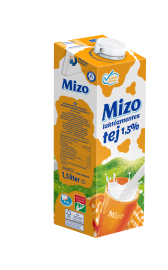 Mizo 1L UHT LAKTÓZMENTES Tej 1,5% 1/12