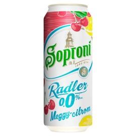 Soproni 0,5l Raddler 0,0% Meggy-citrom 1/24