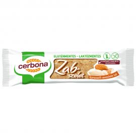 Cerbona Gluténmentes Zabszelet karamellás-mandulás 40g