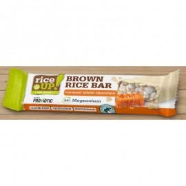 Rice Up! SZELET Brown rice bar fehércsokis-Karamellás 18g