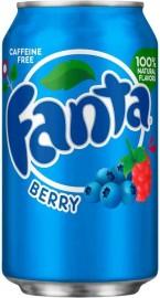 Fanta 0,33l CAN Berry (bogyós gyümölcs) USA