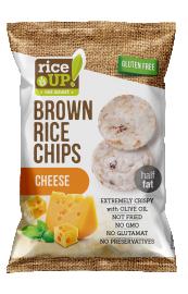 Rice Up! sajtos rizs chips 60g