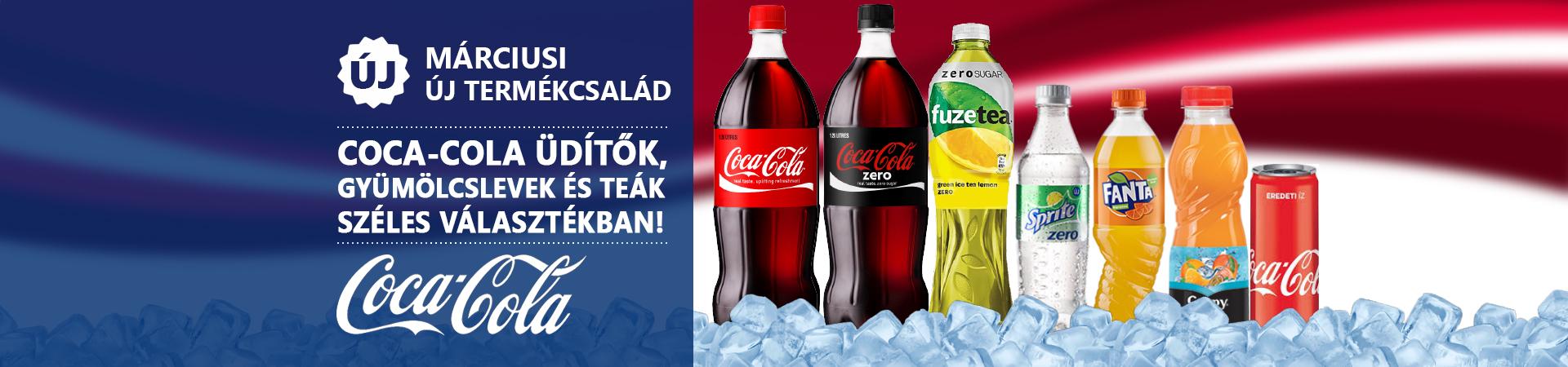 Márciusi kiemelt Coca-Cola termékek